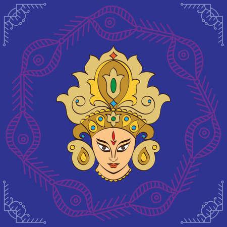 durga: Durga Goddess of Power Vector Art Illustration