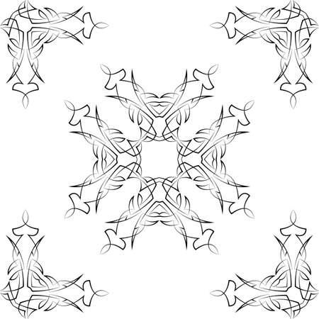 pinstripe: Pinstripe Graphics Corner, Border : Vinyl Ready Vector Art