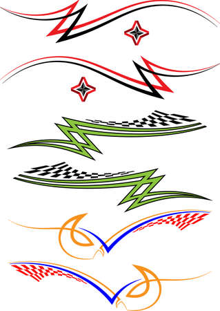 custom car: Vehicle Graphics, Stripe : Vinyl Ready Vector Art Illustration