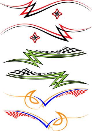 Vehicle Graphics, Stripe : Vinyl Ready Vector Art Vettoriali