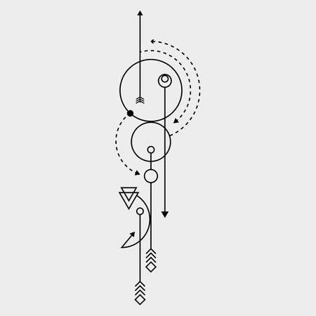 Line-Dot Tattoo Vektorgrafiken