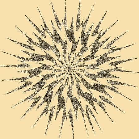 sun burst: Sun Burst Design Stipple Effect Vector Art Illustration