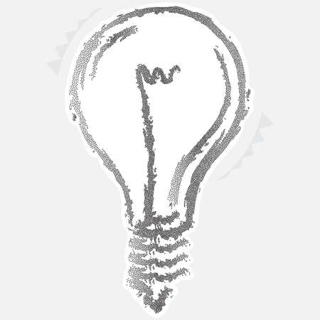 florescent light: Calligraphic Electric Bulb Stipple Effect