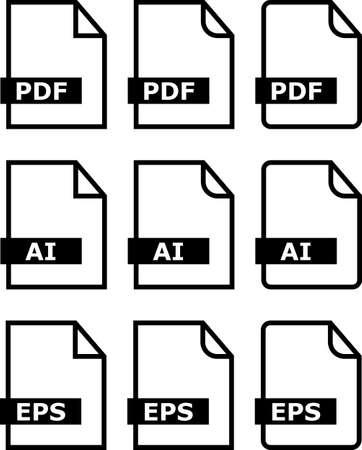 pictorial art: File Icon Pdf Ai Eps Symbol Vector Illustration