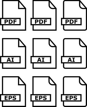 ai: File Icon Pdf Ai Symbol Vector Illustration