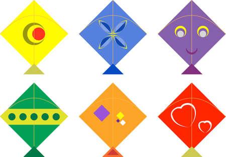 paper kites: Kite Design Collection Vector Illustration Illustration