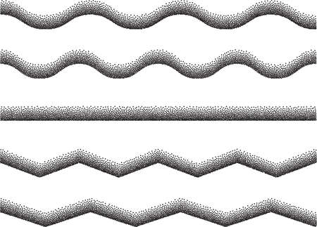 mix: Lines Mix Stipple Effect Vector Illustration