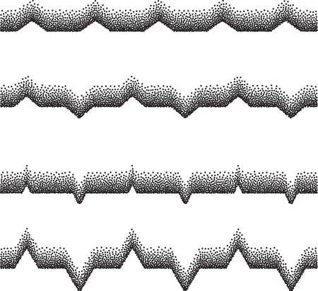 Lines Mix Stipple Effect Vector Illustration