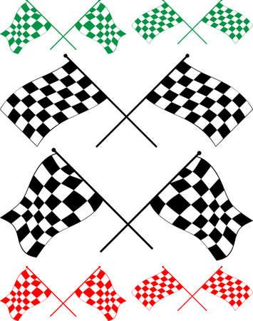 vinyl ready: Race Flag Various Designs, Vinyl Ready Vector Illustration Illustration