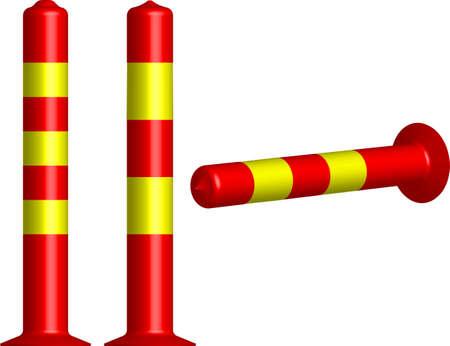 bollard: Traffic Bollard Cone Vector Illustration