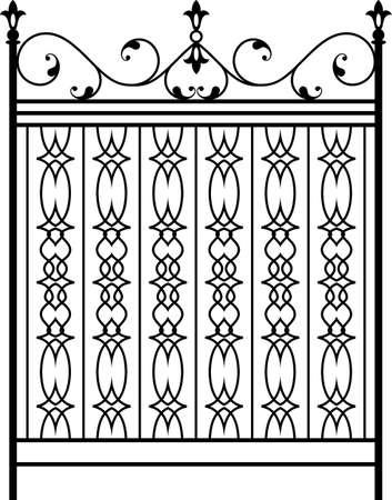 Puerta de hierro forjado, puerta, valla, ventana, Grill, Diseño Baranda