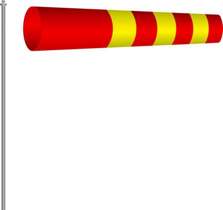 windsock: Windsock Wind Indicator Vector Illustration