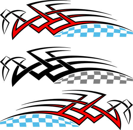 Tribal Car Decal : Vinyl Ready Vector Illustration Illustration