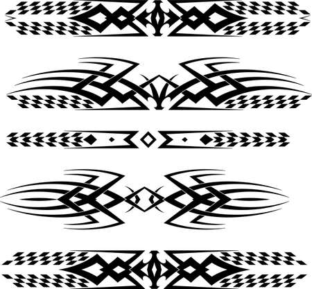 decal: Tribal Car Decal : Vinyl Ready Vector Illustration Illustration