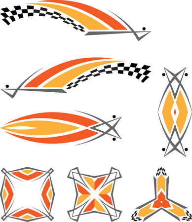vinyl ready: Vehicle Graphics, Stripe : Vinyl Ready Vector Art Illustration