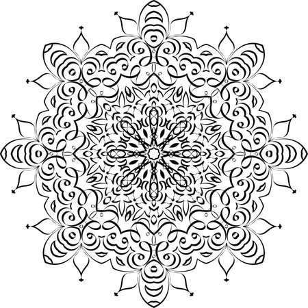 Mandala Ethnic Decorative Vector Illustration