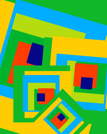 art painting: Modern Abstract Painting Wall Art Triangle Square Vector Illustration