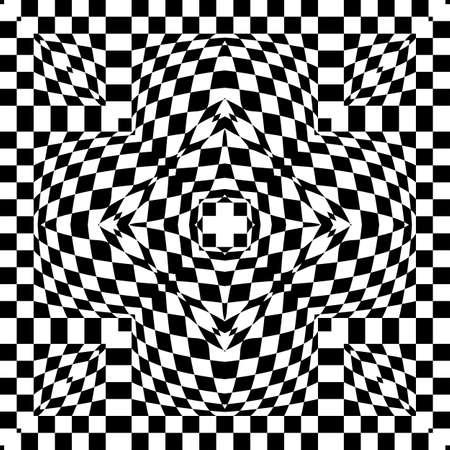 optical: Optical Illusion Background Vector Illustration