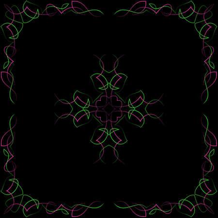 pinstripe: Pinstripe Corner Design Vector Illustration