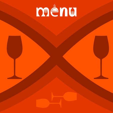 wine stocks: Wine Menu Card Design Template Vector Illustration