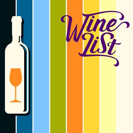 Wein-Menü-Karte Design-Vorlage