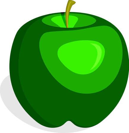 Apple Fruit Green Vector Illustration