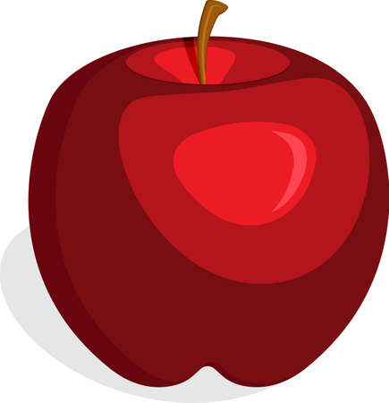 Apple Fruit Red Vector Illustration