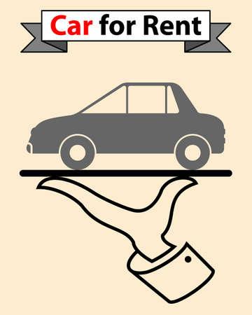 rent: Car For Rent Vector Illustration