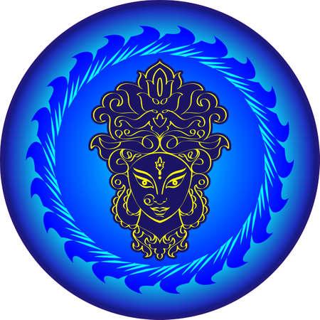 Durga Goddess of Power Vector Illustration Illustration