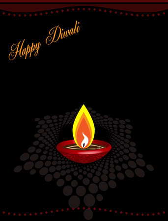 aum: Diwali Greeting Design Vector Art