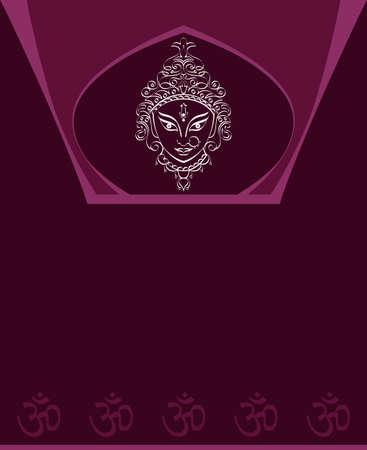 om: Durga Goddess of Power Vector Illustration Illustration