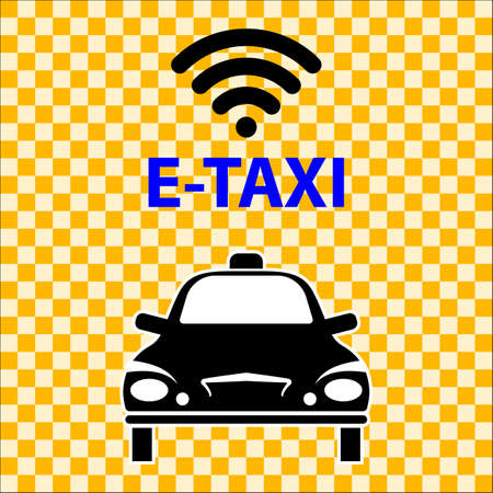 E-Taxi Wi-Fi Icon Symbol Vector Illustration