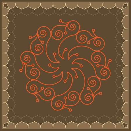 african village: Folk, Tribal Design, Motif, Wall Painting Vector Art