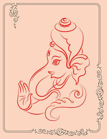 om: Ganesha The Lord Of Wisdom Vector Illustration