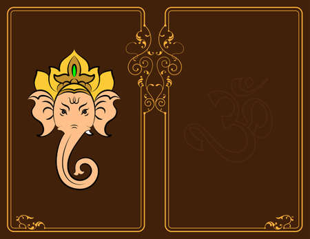 aum: Ganesha The Lord Of Wisdom Vector Illustration