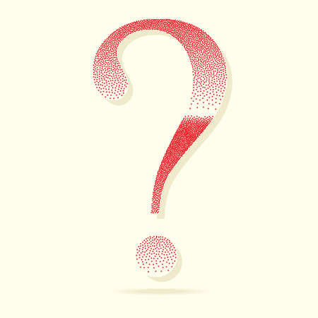 Question Mark Symbol Stipple Effect Vector Illustration