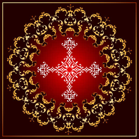 viernes santo: Christian Cross Design Vector Art