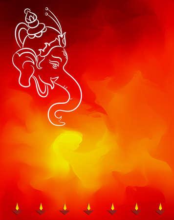 Ganesha The Lord Of Wisdom Vector Illustration