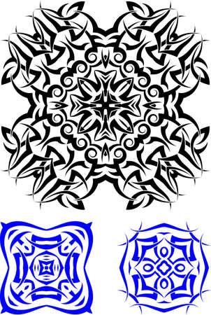 Tribal Tattoo Design Vector Illustration