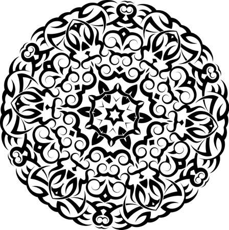 Tribal Tattoo Circular Vector Art