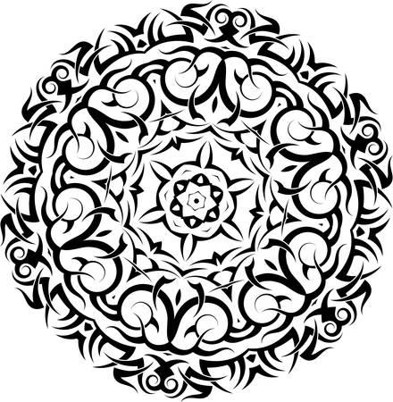 Tribal Tattoo Circular Vector Art
