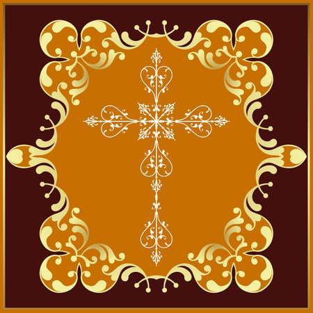 viernes santo: Arte Diseño cruzado cristiano del vector Vectores