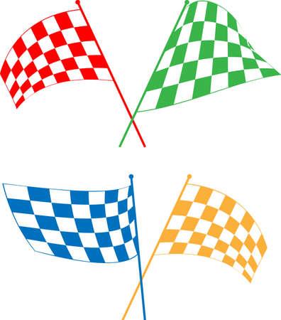 Race Flag Various Designs, Vinyl Ready Vector Illustration Illustration