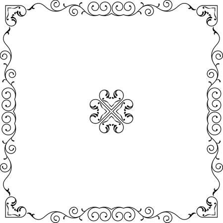 Frame Border Design Vector Illustration