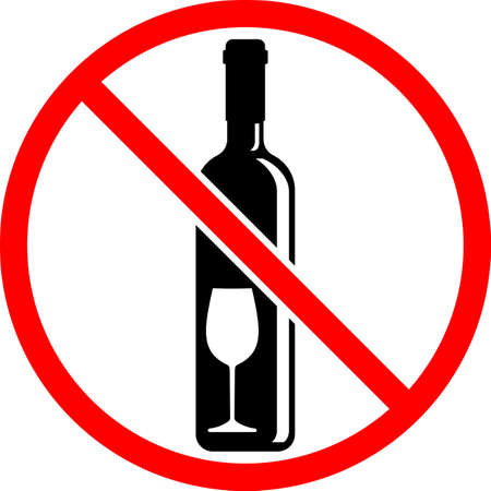 No Alcohol Sign Vector Illustration