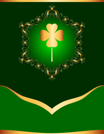 Saint Patricks Day Background With Clover Vector Illustration