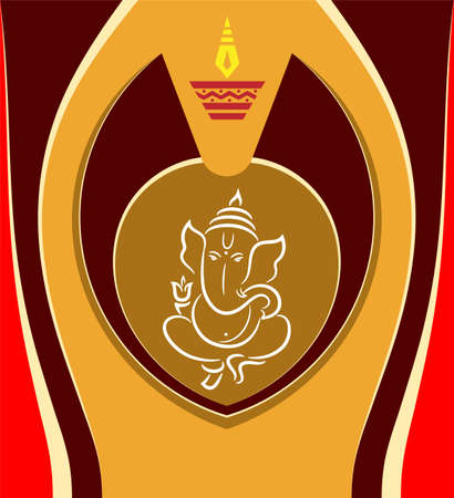 Ganesha The Lord Of Wisdom Vector Illustration