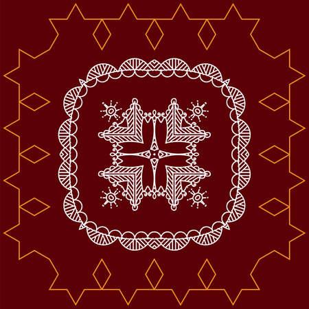 Folk  Tribal Design  Vector Art on color background.