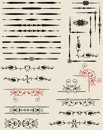 Text Divider Ornamental Design Vector Illustration Stock Vector - 100715242
