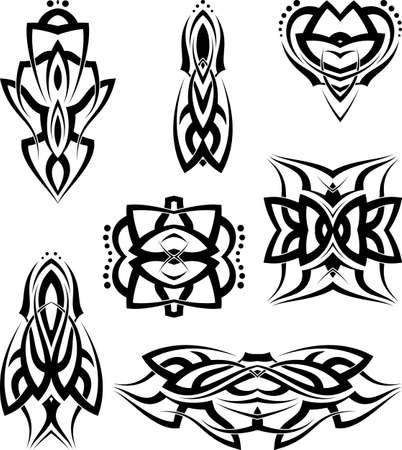 Tribal Tattoo Design set Illustration